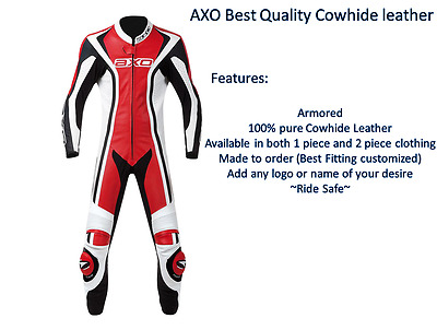 AXO Motorcycle Leather Suit Riding Suit Motorbike Leather Suit Racing Suit