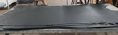 Black sides mossbacked cow hide leather