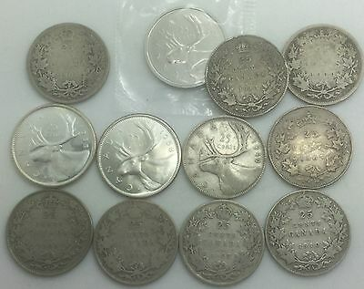 Canada 1883 H to 2003 P Coin Lot  25 Cents  Collector Coins 12 Different