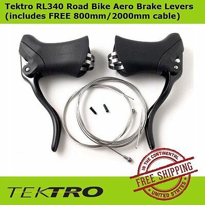 Tektro RL340 Road Bicycle Aero Brake Levers Left&Right + FREE 800mm/2000mm cable
