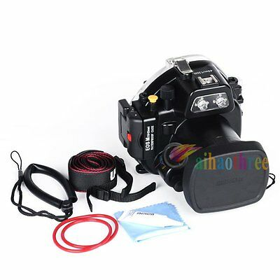 Meikon 40m 130ft Waterproof Diving Case Cover For Canon EOS M 18-55mm Camera【AU】