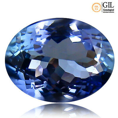 "3.01 ct ""GIL"" CERTIFIED TOP QUALITY BLUISH VIOLET 100% NATURALTANZANITE"