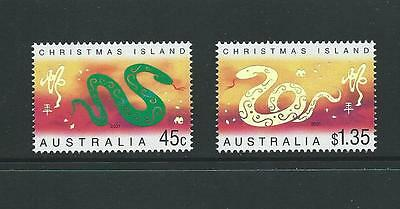 2001 CHRISTMAS ISLAND Chinese New Year of the Snake Set MNH (SG 487-488)