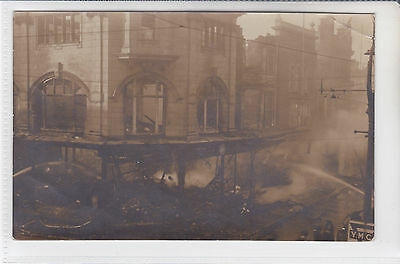Postcard 1919 Fire Disaster Arnolds Drapery Store, Regent Street, Great Yarmouth