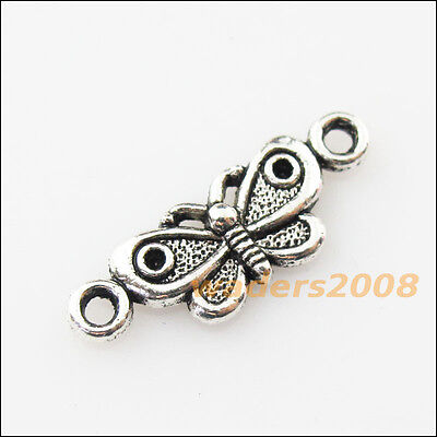 16 New Animal Butterfly Connector Tibetan Silver Tone Charms Pendants 7.5x21.5mm