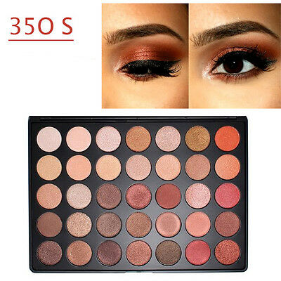 35 Colors Shimmer Matte Eye shadow Eyeshadow Palette Pro Cosmetic Makeup Tool ++