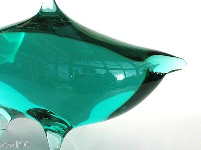 Zelezny Brod glassworks  Haifisch  Czech Glass Design  Original Label
