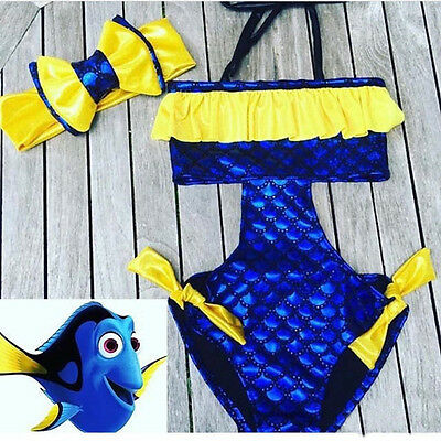 Kids Baby Girl Bikini Swimsuit Swimwear Bathing Suit Sunsuit Clothing UK Stock