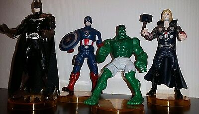 Marvel The Avengers 4 Figuren Set 15cm Hulk Thor Batman Captain Amerika Figur