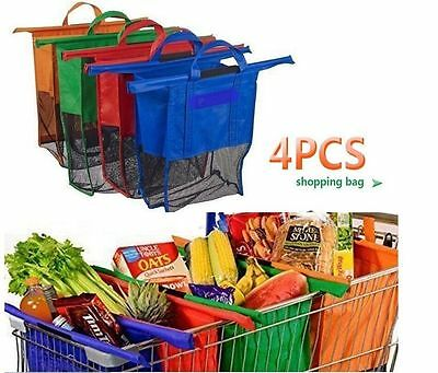 1 Set 4 Bags Reusable Grocery Cart Shopping Trolley Bags Shopping Carrier Bag