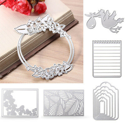 Silver Diverse Metal Cutting Dies Stencils Scrapbook Paper Card Embossing Craft