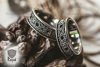 Ring Charm Star Rus ancient protective ornament. Celtic Wedding Ring Slavic Ring