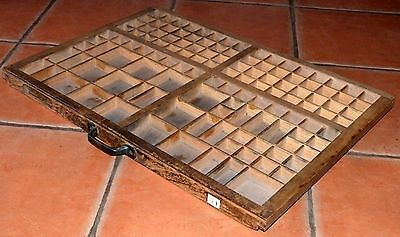 Vintage French Wooden letterpress drawer tray samples,specimens,collections