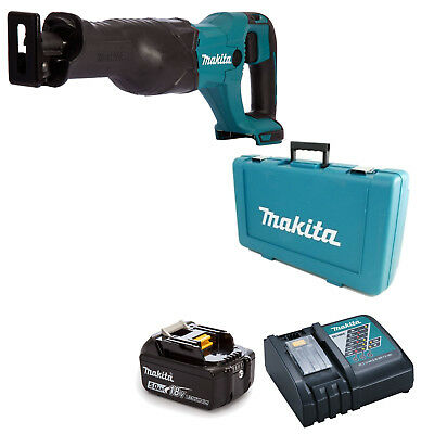 MAKITA 18V LXT DJR186 RECIPROCATING SAW AND 1 x BL1850B, 1 x DC18RC AND CASE