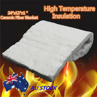 "24""x12""x1'' Ceramic Fiber Blanket Thermal High Temperature Insulation Aluminum"