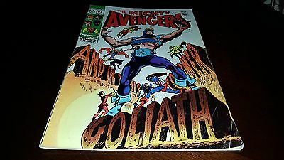 The Avengers #63 (Apr 1969, Marvel) FINE....HAWKEYE BECOMES GOLIATH!!!!