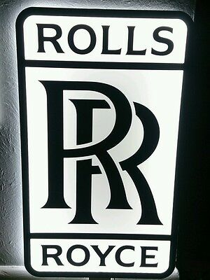 ROLLS ROYCE 3D sign lighted sport car garage racing rolls royce