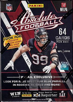2016 Panini Absolute Blaster Nfl Football Box Factory Sealed 64Karten Per Box