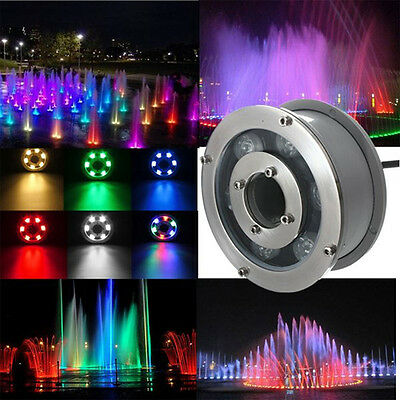 Waterproof RGB Colors LED Underwater Light Fountain Pool Spot Light 9W 12V IP68