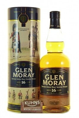 Glen Moray 16 Jahre Speyside Single Malt Scotch Whisky 0,7l, alc. 40%