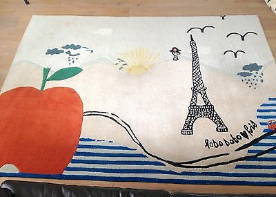 "BOBO CHOSES Carpet Teppich ""lobo bobo paris"" rare!"