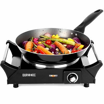 Duronic HP1BK 1500W Black Single Portable Hob Table Top Camping Cooker Hot plate