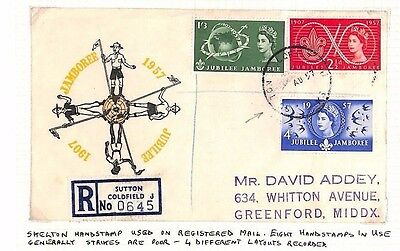 DBAP132 1957 GB SCOUTING FDCs Scarce Sutton Coldfield CDS/Pair{2}