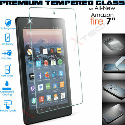"100% TEMPERED GLASS Screen Protector for Amazon Fire 7"" 7th / 9th Gen 2019 /2017"