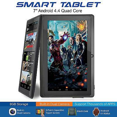7 Inch Android Quad Core 4.4 Dual Camera Tablet 8GB Bluetooth Wifi Tablet UK