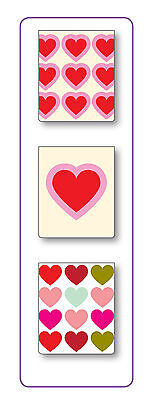 Pack of 3 Mini Page Markers - Hearts - Magnetic Bookmark - Gift Idea