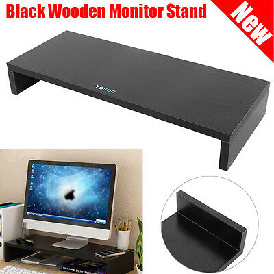 1 Layers Wooden Monitor Stand Desktop LCD LED PC Monitor Riser Organizer Rack AU