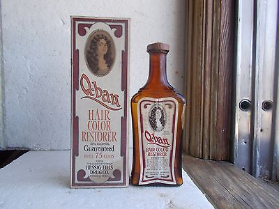 Q-Ban For The Hair Emb & Label Hair Color Restorer W/box 1920 Unopened Memphis
