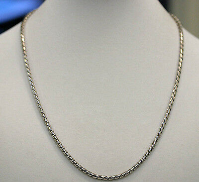 """DAVID YURMAN New Mens 4mm Rounded Cobra Chain Sterling Silver 22"""" Necklace"""
