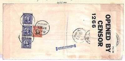 DBAP159 1939 CHINA INTERRUPTED WW2 Shanghai Multiple Censored Registered Mail