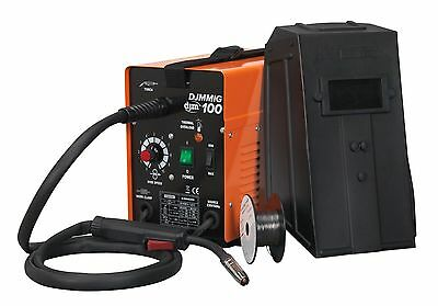 DJM Professional No Gas Mig Welder 100 amp 230v Gasless Includes Wire Tip Mask