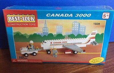 RARE Sealed Vintage CANADA 3000 Best-Lock Construction Toy Airplane - Lego Like