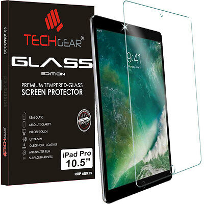 TECHGEAR TEMPERED GLASS Screen Protector Cover For Apple iPad Pro 10.5""