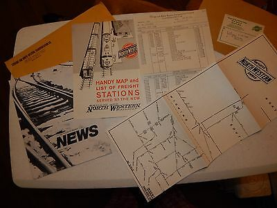 Chicago And North Western Railway Segment Maps Report Stations Railroad C & N W