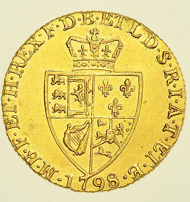 1798 Guinea, British Gold Coin From George Iii Ef