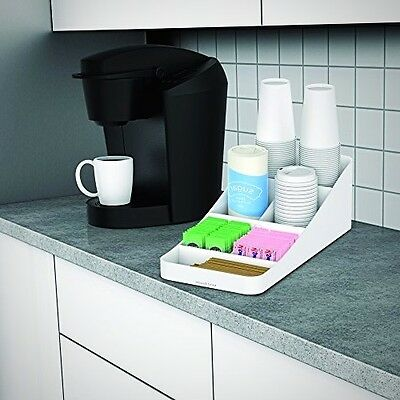 Condiment Station Storage Organizer Compact Portable Coffee Tea Cups Holder Home