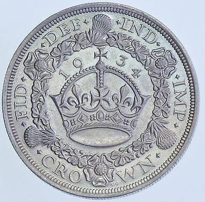 Extremely Rare 1934 Wreath Crown British Silver Coin George V (Only 932 Struck)