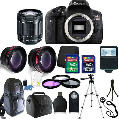 Canon EOS Rebel T6i DSLR Camera w/EF-S 18-55mm IS STM Lens Kit +24GB Accessories