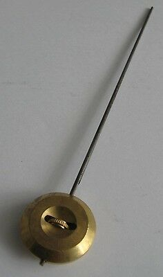 Pendulum for French Clock - no. 0 / 32mm / 50g Brass Bob & Hook, 260mm Steel Rod