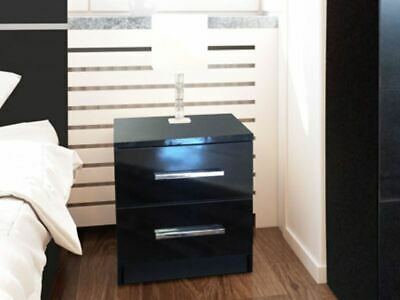 instrument MARSYLIA bedside table [black gloss]