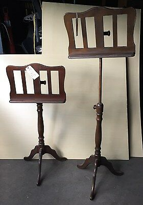 "Pair (2)  Wooden Music Stands  Adjustable ""ms610"""