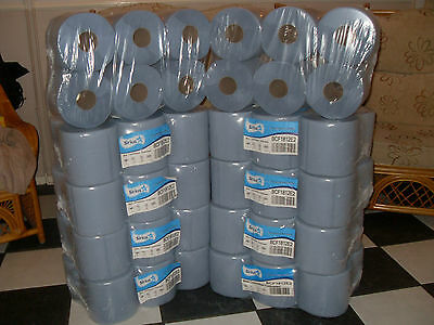 BEST VALUE 60 blue rolls 10 x 6 packs ,centre feed,paper towel,industrial roll
