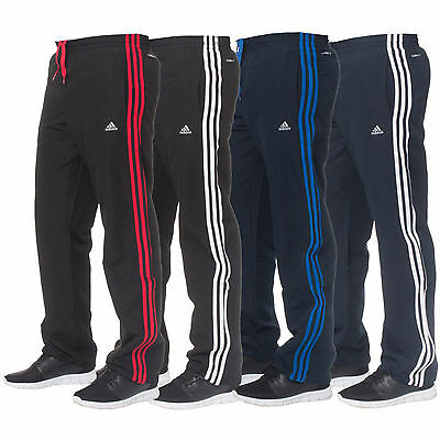 Adidas Essentials Climalite Mens 3 Stripe Tracksuit Bottoms Joggers Track Pants