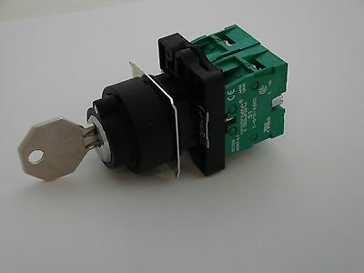 Key Operated Switch 3 Position with 2 Normally Open Contacts