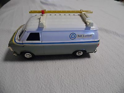 Bell System Telephone Service Truck Bank with Ladder