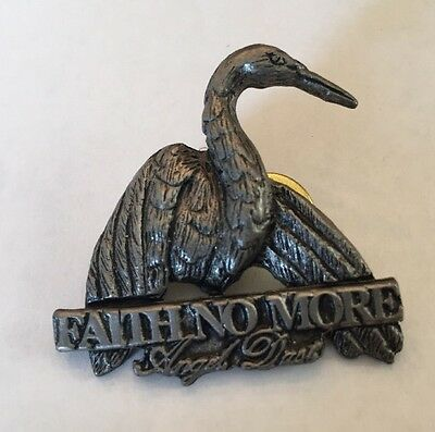 VTG Faith No More Angel Dust Pin Poker Badge Pewter Rock Original 1992 Mr Bungle